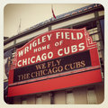 Wrigley field the chicago cubs Royalty Free Stock Image