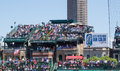 Wrigley Field Rooftop Seating Royalty Free Stock Photo
