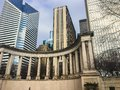 WRIGLEY SQUARE MILLENNIUM MONUMENT, CLOSE UP Royalty Free Stock Photo