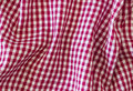 Wrinkle fabric plaid colorful as background Royalty Free Stock Photography