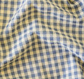Wrinkle fabric plaid texture of blue as background Stock Image