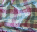 Wrinkle fabric plaid texture of colorful as background Stock Images