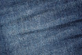 Wrinkled and discolored jeans fabric background Stock Image
