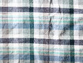 Wrinkled fabric plaid texture cloth background Royalty Free Stock Photos