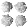 Wrinkled papers isolated on white Royalty Free Stock Photography