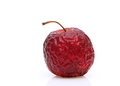 Wrinkled red apple