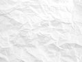 close-up crumpled white paper texture, creases parchment abstract pattern background Royalty Free Stock Photo