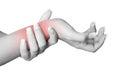 Wrist Pain Royalty Free Stock Photo