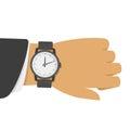 Wrist watch on hand. Royalty Free Stock Photo