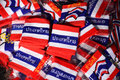 Wristband in thai flag pattern put together Royalty Free Stock Photo