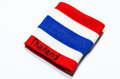 Wristband thailand striped flag of placed on a white background Stock Image