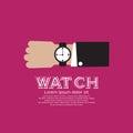 Wristwatch black vector illustration eps Royalty Free Stock Photo