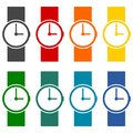 Wristwatch vector icons set