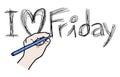 Write love friday creative design of Stock Photography