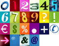 Write numbers with this signs Royalty Free Stock Photo