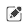 Write simple icon vector