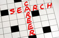 Write the words Career Search on a puzzle Royalty Free Stock Image