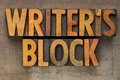 Writer block in letterpress type Royalty Free Stock Photos