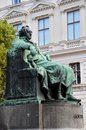 Writer Goethe statue Vienna Austria Royalty Free Stock Photos
