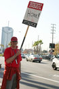 Writers guild of america strike g picketers the in front nbc studios in burbank california on january th Stock Images