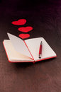 Writing about love in notebook Royalty Free Stock Photo
