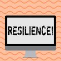Writing note showing Resilience. Business photo showcasing Capacity to recover quickly from difficulties Persistence.