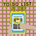 Writing note showing To Do List Sleep. Business photo showcasing Things to be done Priority object is to take a rest Royalty Free Stock Photo
