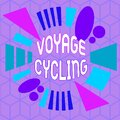 Writing note showing Voyage Cycling. Business photo showcasing Use of bicycles for transport recreation and exercise Asymmetrical