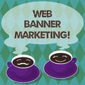 Writing note showing Web Banner Marketing. Business photo showcasing entails to embed an advertisement in a web page