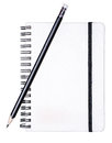 Writing pad with a pencil Royalty Free Stock Photo