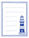 Writing paper or letter paper with lighthouse Stock Images