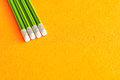 Writing pencils with erasers at the tip Royalty Free Stock Photo