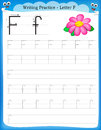 Writing practice letter F