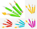Writing tool collection Royalty Free Stock Photo