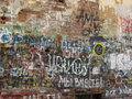 Writings on the wall Royalty Free Stock Photo