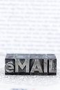 Written email in lead letters Royalty Free Stock Photo