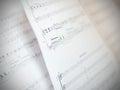Written Music Notation Sheet