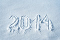 Written in snow new year concept Stock Images