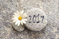 2017 written on a stone background Royalty Free Stock Photo