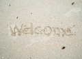 Written word in sand Royalty Free Stock Photo