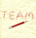 Written word team Royalty Free Stock Photo