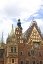 Wroclaw city hall Royalty Free Stock Images