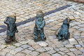 Wroclaw dwarfs poland october s are small figurines that first appeared in the streets of wrocław in since then their Royalty Free Stock Image