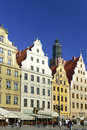 Wroclaw east part of market place image was taken on july Royalty Free Stock Photography