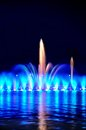 Wroclaw fountain show Royalty Free Stock Images