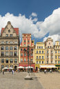 Wroclaw market place image was taken on july Royalty Free Stock Photos