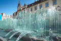 Wroclaw Poland, Market Square Fountain Stock Photography