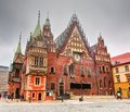Wroclaw, Poland. The Town Hall on market square Stock Photo