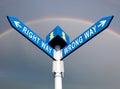 Wrong Way and Right Way Royalty Free Stock Photo
