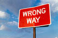 Wrong way sign Royalty Free Stock Photo